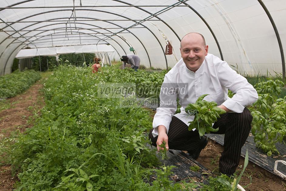 Europe/France/Bretagne/22/Côtes d'Armor/ Paimpol: Vincent Prémorvan    du Restaurant: La Cotriade sélectionne ses herbes à la ferme