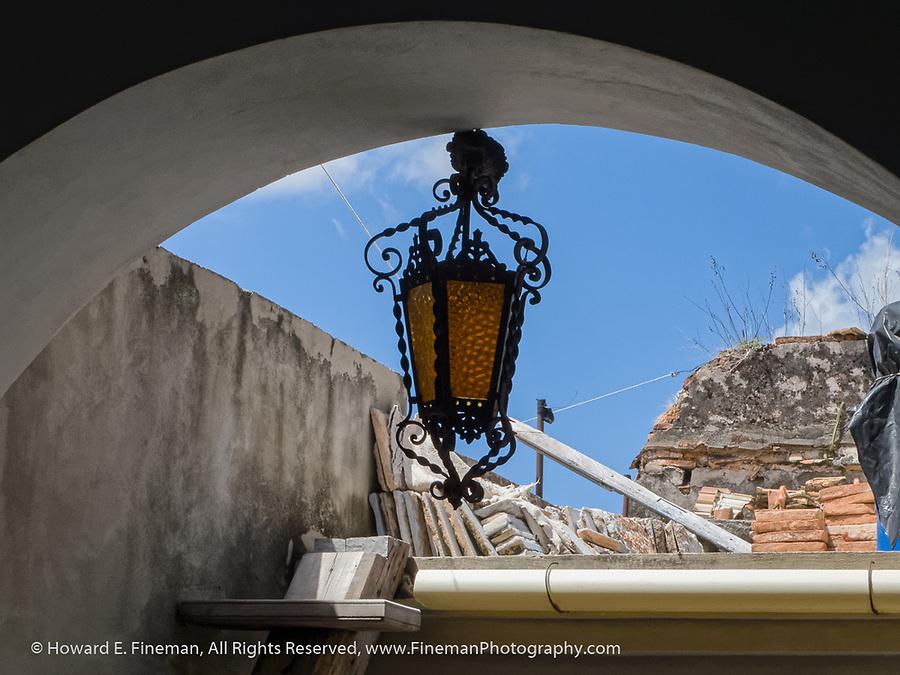 Open roof deck of Lazaro Niebla's home and studio