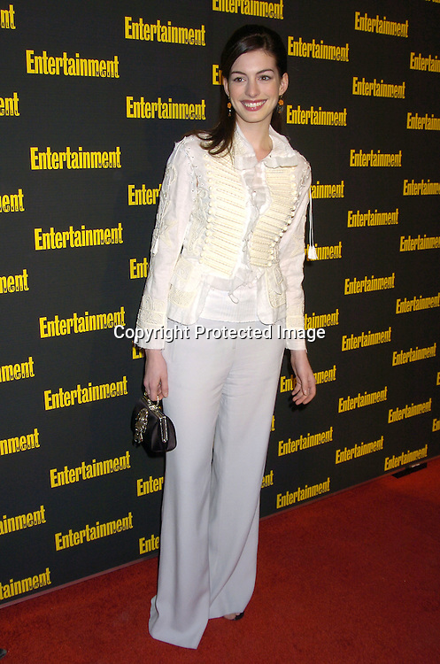 Anne Hathaway ..at the 11th Annual Entertainment Weekly Oscar Party on ..Februaty 27, 2005 at Elaine's in New York City. ..Photo by Robin Platzer, Twin Images