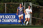 11 September 2016: High Point's Meg Kowalski (33) and Duke's Kat McDonald (9). The Duke University Blue Devils hosted the High Point University Panthers at Koskinen Stadium in Durham, North Carolina in a 2016 NCAA Division I Women's Soccer match. Duke won the match 4-1.