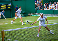 London, England, 5 th. July, 2018, Tennis,  Wimbledon, Men's doubles: Sander Arends and Matwe Middelkoop (NED) (R)<br /> Photo: Henk Koster/tennisimages.com