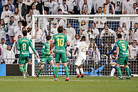 6th February 2020; Estadio Santiago Bernabeu, Madrid, Spain; Copa Del Rey Football, Real Madrid versus Real Sociedad; Jose I. Fernandez, NACHO (Real Madrid)  scores to make it 3-4 in the 93rd minute