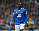 Romelu Lukaku of Everton during the Barclays Premier League match at The Goodison Park Stadium. Photo credit should read: Simon Bellis/Sportimage