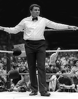 Muhammed Ali at Wrestlemania 1 in 1985<br /> Photo By Adam Scull/PHOTOlink.net