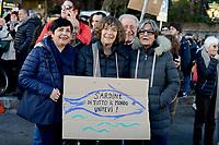Roma, 14 Dicembre 2019<br /> Il movimento delle Sardine, nato contro il sovranismo e il fascismo manifesta in Piazza San Giovanni