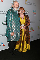 LOS ANGELES - OCT 25:  David Keith Heald, Lesley Nicol at the 2019 British Academy Britannia Awards at the Beverly Hilton Hotel on October 25, 2019 in Beverly Hills, CA