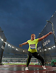 SHANGHAI, CHINA - MAY 19:  Sandra Perkovic of Croatia competes in the Women DiscusThrow during the Samsung Diamond League on May 19, 2012 at the Shanghai Stadium in Shanghai, China.  Photo by Victor Fraile / The Power of Sport Images