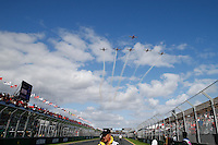 MELBOURNE, 17 MARCH - Aerobatic planes fly over the main straight ahead of the 2013 Formula One Rolex Australian Grand Prix at the Albert Park Circuit in Melbourne, Australia. Photo Sydney Low/syd-low.com