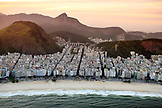 BRAZIL, Rio de Janiero, an ariel view of Copacabana Beach, which is known for its 4 km balneario beach, one of the most famous in the world