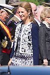 01.10.2012. The Spanish Royal Family, King Juan Carlos, Queen Sofia, Prince Felipe, Princess Letizia and Princess Elena attend the imposition of collective Distinguished Cross San Fernando Al Banner Armored Cavalry Regiment ´Alcántara´ No. 10 in the Royal Palace in Madrid, Spain. In the image Princess Elena (Alterphotos/Marta Gonzalez)