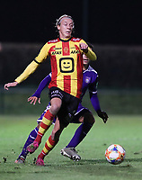 20191125 - WOLVERTEM: Mechelen's Gaetan Bosiers is in action during the Belgian Elite U21 league football match between RSC Anderlecht U21 and KV Mechelen U21 on Monday 25th of November 2019 at F. Lathouwersstadion, Wolvertem Belgium. PHOTO: SEVIL OKTEM | SPORTPIX.BE