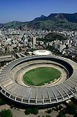 Rio de Janeiro, Brazil. Aerial view of the Maracana stadium with the Maracanazinho behind.
