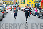 Joe Donovan leads Martin Lacey and Dominic O'Brien at the Rock Bars Street Race on Monday.