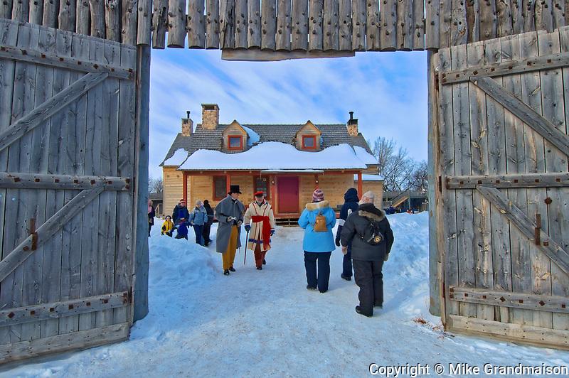 Festival du Voyageur. Ft. Gibraltor. St. Boniface. <br />Winnipeg<br />Manitoba<br />Canada