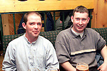 Gavin Teelan and Barry Reilly from termonfeckin enjoying a night out in The Rock..Picture Paul Mohan Newsfile