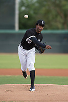 AZL White Sox starting pitcher Brayan Herrera (50) delivers a pitch during an Arizona League game against the AZL Athletics at Camelback Ranch on July 15, 2018 in Glendale, Arizona. The AZL White Sox defeated the AZL Athletics 2-1. (Zachary Lucy/Four Seam Images)