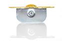 "Brass Ball Bearing Sash Pulleys 1 3/4"" : Polished Brass Profile"