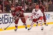 Adam Fox (Harvard - 18), Kieffer Bellows (BU - 9), Jacob Olson (Harvard - 26) - The Harvard University Crimson defeated the Boston University Terriers 6-3 (EN) to win the 2017 Beanpot on Monday, February 13, 2017, at TD Garden in Boston, Massachusetts.