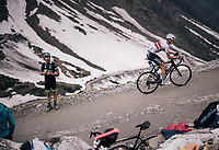 Krists Neilands (LAT/Israel Cycling Academy) up the gravel roads of the Colle delle Finestre <br /> <br /> stage 19: Venaria Reale - Bardonecchia (184km)<br /> 101th Giro d'Italia 2018