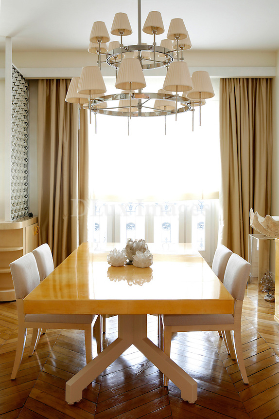 modern wooden dining table