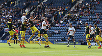 Preston North End's Tom Clarke battles against the Southampton defence<br /> <br /> Photographer Stephen White/CameraSport<br /> <br /> Football Pre-Season Friendly - Preston North End v Southampton - Saturday July 20th 2019 - Deepdale Stadium - Preston<br /> <br /> World Copyright © 2019 CameraSport. All rights reserved. 43 Linden Ave. Countesthorpe. Leicester. England. LE8 5PG - Tel: +44 (0) 116 277 4147 - admin@camerasport.com - www.camerasport.com