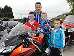 Damien, Adam, Kyle and Dylan McKenna pictured at the annual bike run in aid of St. Ita's school. Photo: Colin Bell/pressphotos.ie