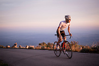 up the Mare de Déu del Mont climb at dusk<br /> <br /> Girona / Spain