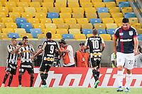 RIO DE JANEIRO, RJ, 11.02.2014 - Wallyson do Botafogo comemora seu gol, o segundo da equipe carioca, durante a partida contra o San Lorenzo pela primeira rodada do Grupo 2 da Libertadores no Estádio Mário Filho, o Maracanã . (Foto. Néstor J. Beremblum / Brazil Photo Press)