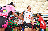 Sam Cook of the NZ Warriors, Rabbitohs v Vodafone Warriors, NRL rugby league premiership. Optus Stadium, Perth, Western Australia. 10 March 2018. Copyright Image: Daniel Carson / www.photosport.nz