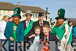 ENTERTAINERS: Entertainers and Marshal of causeway St Patrick's Day Parade who took part in the Causeway St Patricks Day Parade on Wednesday, Gerard and Joseph Leen (JEDWARDS), Back l-r: Gerard Clifford, Liam O'Connor(Marshall), Danny Houlihan and Gerard Guerin.................................. ....