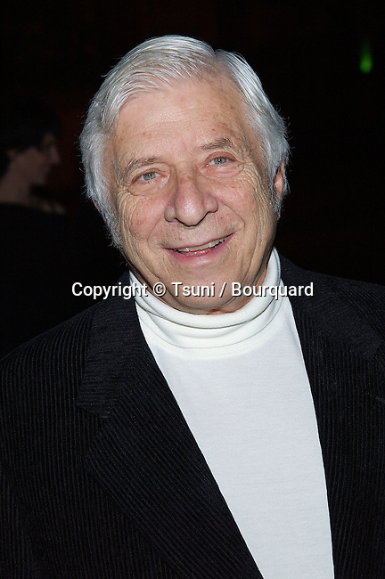 Elmer Bernstein (Score: Far From Heaven) arriving at the Los Angeles Film Critic Association, the 28th Annual Awards at the Casa Del sol in Los Angeles. January 15. 2003