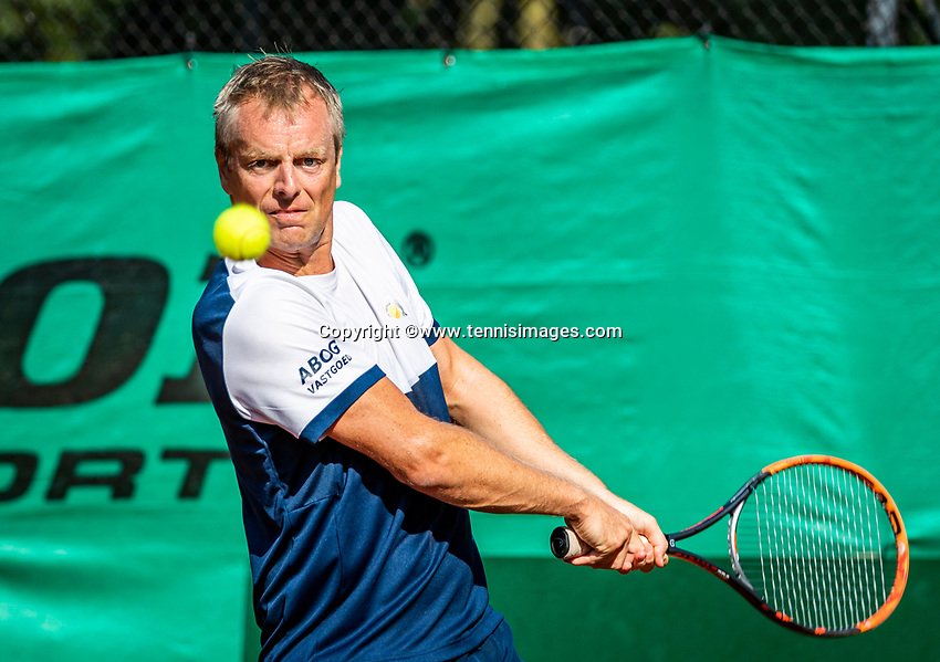 Hilversum, The Netherlands, September 2, 2018,  Tulip Tennis Center, NKS, National Championships Seniors, Men's  40+ final: Ferdinand Forger (NED)<br /> Photo: Tennisimages/Henk Koster