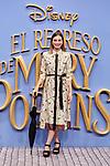 Norma Ruiz attends to Mary Poppins Returns film premiere at Kinepolis in Pozuelo de Alarcon, Spain. December 11, 2018. (ALTERPHOTOS/A. Perez Meca)