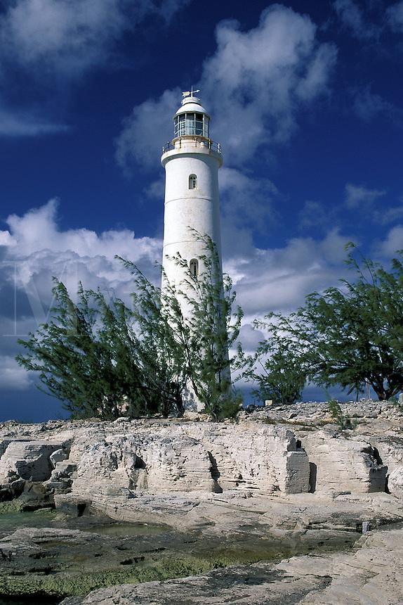 Inagua Lighthouse, Built in 1870, Fueled by kerosene, Great Inagua Island, Bahamas