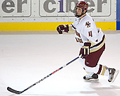Mike Brennan - The Boston College Eagles and Ferris State Bulldogs tied at 3 in the opening game of the Denver Cup on Friday, December 30, 2005, at Magness Arena in Denver, Colorado.  Boston College won the shootout to determine which team would advance to the Final.