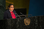 Indonesia<br /> <br /> General Assembly Seventy-first session, 25th plenary meeting<br /> 1.  Organization of work, adoption of the agenda and allocation of items: Documentation for the election of the members of the International Law Commission: review of the list of candidates [item 7]<br /> 2.  Implementation of the resolutions of the United Nations [item 120] Revitalization of the work of the General Assembly [item 121]<br />      Joint debate