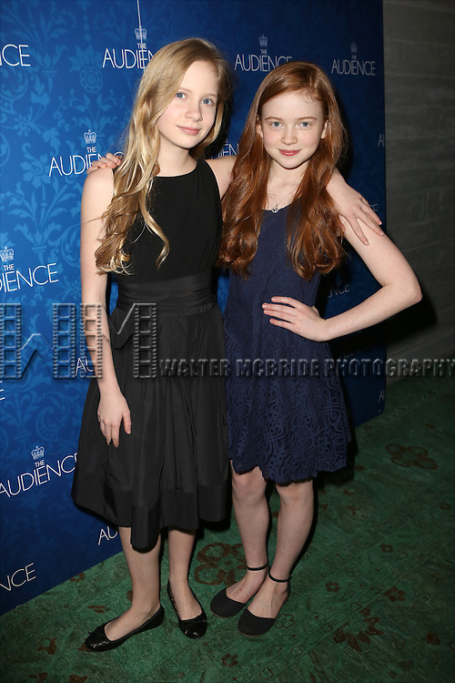 Elizabeth Teeter and Sadie Sink attends the opening night after party for the Broadway Opening of 'The Audience' at Urbo NYC on March 8, 2015 in New York City.