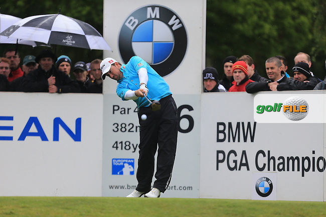 Graeme McDowell (NIR) on the 6th during round 2 at the BMW PGA Championship 2013, Wentworth Club, Virginia Water, Surrey, England. 24/5/13.Picture:  Fran Caffrey/www.golffile.ie