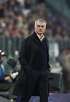 Football Soccer: UEFA Champions League -Group Stage-  Group H - Juventus vs Manchester United, Allianz Stadium. Turin, Italy, November 07, 2018.<br /> Manchester United's coach José Mourinho looks on during the Uefa Champions League football soccer match between Juventus and Manchester United at Allianz Stadium in Turin, November 07, 2018.<br /> UPDATE IMAGES PRESS