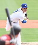 Kenta Maeda (Dodgers),<br /> MARCH 5, 2016 - MLB :<br /> Kenta Maeda of the Los Angeles Dodgers pitches during a spring training baseball game against the Arizona Diamondbacks at Camelback Ranch-Glendale in Phoenix, Arizona, United States. (Photo by AFLO)