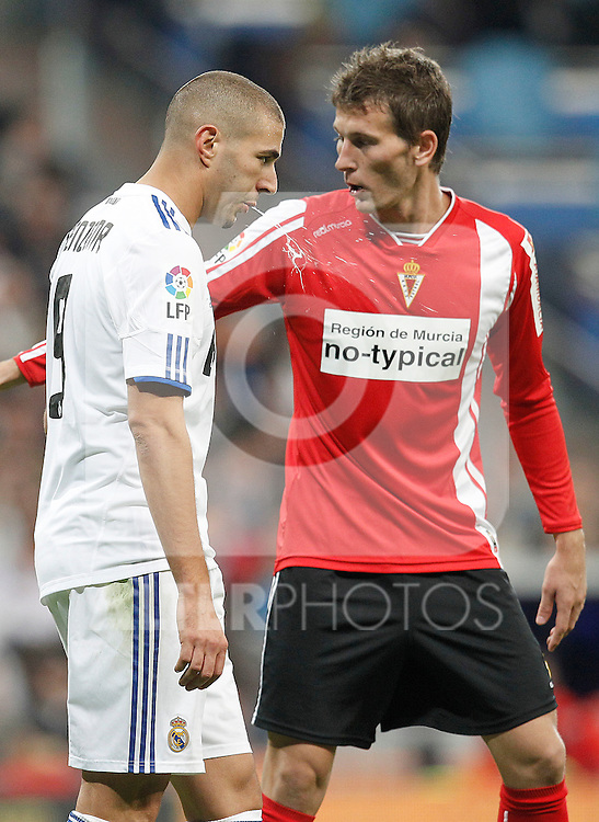 MADRID (10/11/2010).- Real Madrid's Karim Benzema during Spanish King's Cup match...Photo: Cesar Cebolla / ALFAQUI