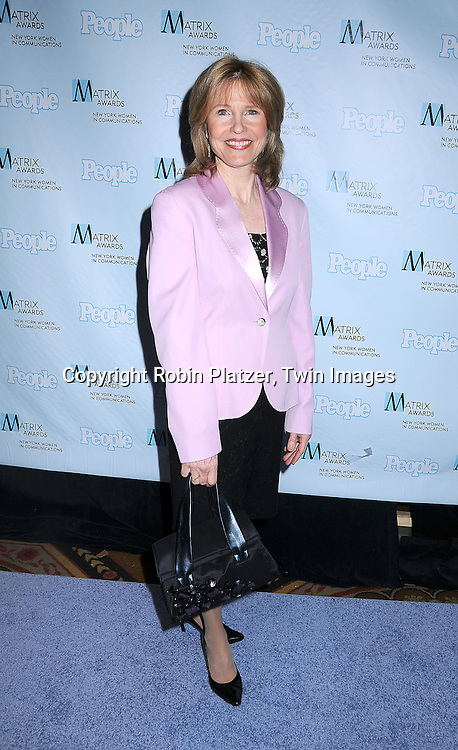 Donna Hanover .posing for photographers at The 2008 Matrix Awards on .April 7, 2008 at The Waldorf Astoria Hotel in New York. Susan Gianinno, Anna Deavere Smith, Robin Roberts, Ruth Reichl, Linda Greenhouse, Joannie Danielides, Anne Sweeney and Diane Von Furstenberg were the honorees. ..Robin Platzer, Twin Images