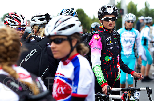 22 MAY 2011 - DUNKERQUE, FRA - Emma Moffatt (Charleville Triathlon Ardennes) waits for transition to open ahead of the women's round of the 2011 French Grand Prix triathlon series .(PHOTO (C) NIGEL FARROW)