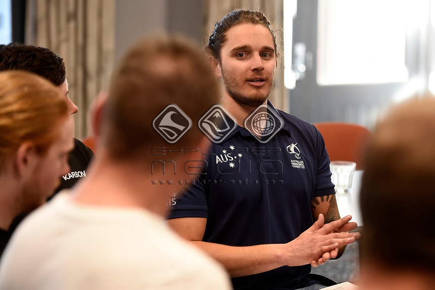 Sam Tait  / THE MOB get together for the Australian Paralympic Committee<br /> 2017 Alpine skiing training camp for <br /> 2018 Pyeongchang South Korea Paralympics<br /> Jindabyne NSW / August 15th 2017<br /> &copy; Sport the library / Jeff Crow