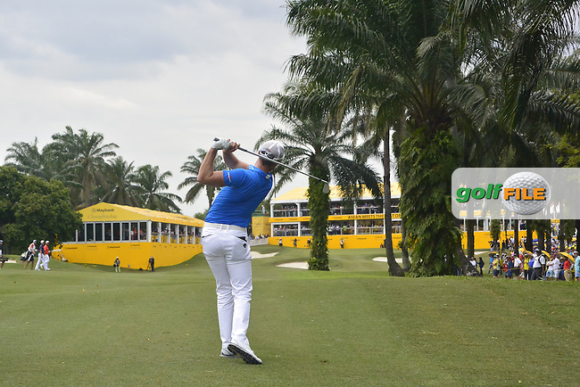 Danny Willett (ENG) on the 18th fairway during Round 4 of the Maybank Championship on Sunday 12th February 2017.<br /> Picture:  Thos Caffrey / Golffile<br /> <br /> All photo usage must carry mandatory copyright credit     (&copy; Golffile | Thos Caffrey)