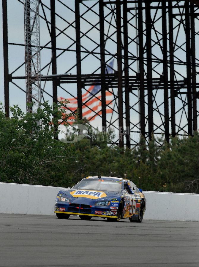 June 11, 2006; Long Pond, PA, USA; Nascar Nextel Cup driver Michael Waltrip (55) during the Pocono 500 at Pocono Raceway. Mandatory Credit: Mark J. Rebilas.