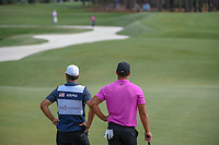 Brooks Koepka (USA) watches C.T. Pan (TAI) hit from the trap on 2 during round 4 of The Players Championship, TPC Sawgrass, at Ponte Vedra, Florida, USA. 5/13/2018.<br /> Picture: Golffile | Ken Murray<br /> <br /> <br /> All photo usage must carry mandatory copyright credit (&copy; Golffile | Ken Murray)