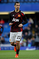 Henrikh Mkhitaryan of Manchester United warms up pre-match during Chelsea vs Manchester United, Premier League Football at Stamford Bridge on 5th November 2017