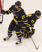 Patrick Kramer (Merrimack - 27), Logan Coomes (Merrimack - 17) - The visiting Merrimack College Warriors defeated the Boston University Terriers 4-1 to complete a regular season sweep on Friday, January 27, 2017, at Agganis Arena in Boston, Massachusetts.The visiting Merrimack College Warriors defeated the Boston University Terriers 4-1 to complete a regular season sweep on Friday, January 27, 2017, at Agganis Arena in Boston, Massachusetts.
