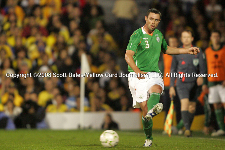 29 May 2008: Damien Delaney (IRL). The Republic of Ireland Men's National Team defeated the Colombia Men's National Team 1-0 at Craven Cottage in London, England in an international friendly soccer match.